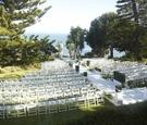 Malibu wedding ceremony on grassy oceanview bluff
