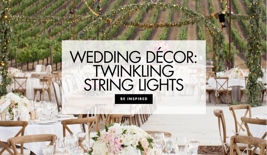 Wedding decor twinkling string lights wedding decoration ideas bistro patio lights