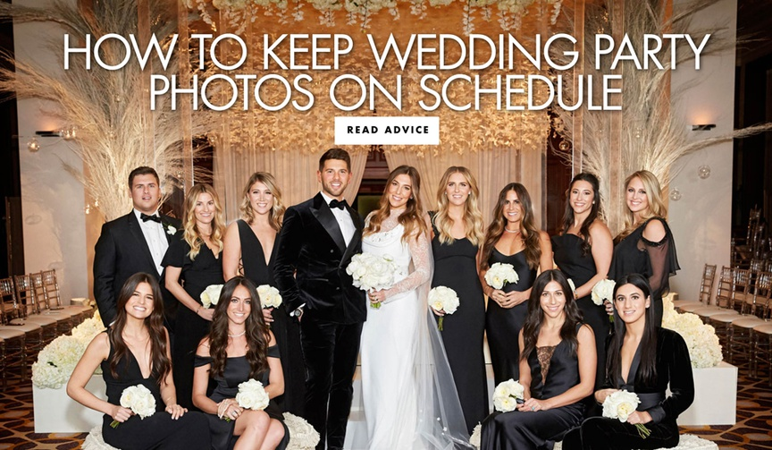 how to keep wedding party photos on schedule