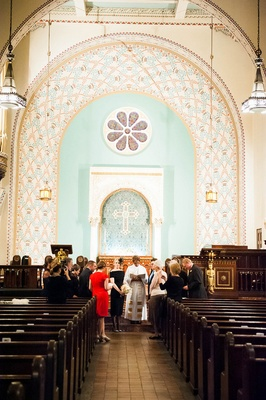 Intimate wedding ceremony at Park Avenue United Methodist Church