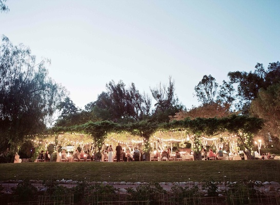 Ojai Valley Inn & Spa rehearsal dinner at dusk