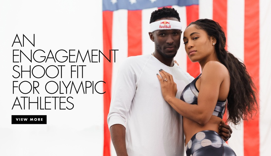 View more images from Olympic athletes Will Claye and Queen Harrison's celebratory photo session at