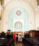 Intimate wedding ceremony at Park Avenue United Methodist Church