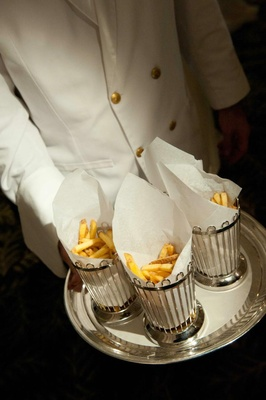 Wedding reception french fry late night snacks