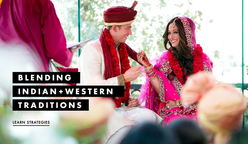 Indian and American Western wedding traditions