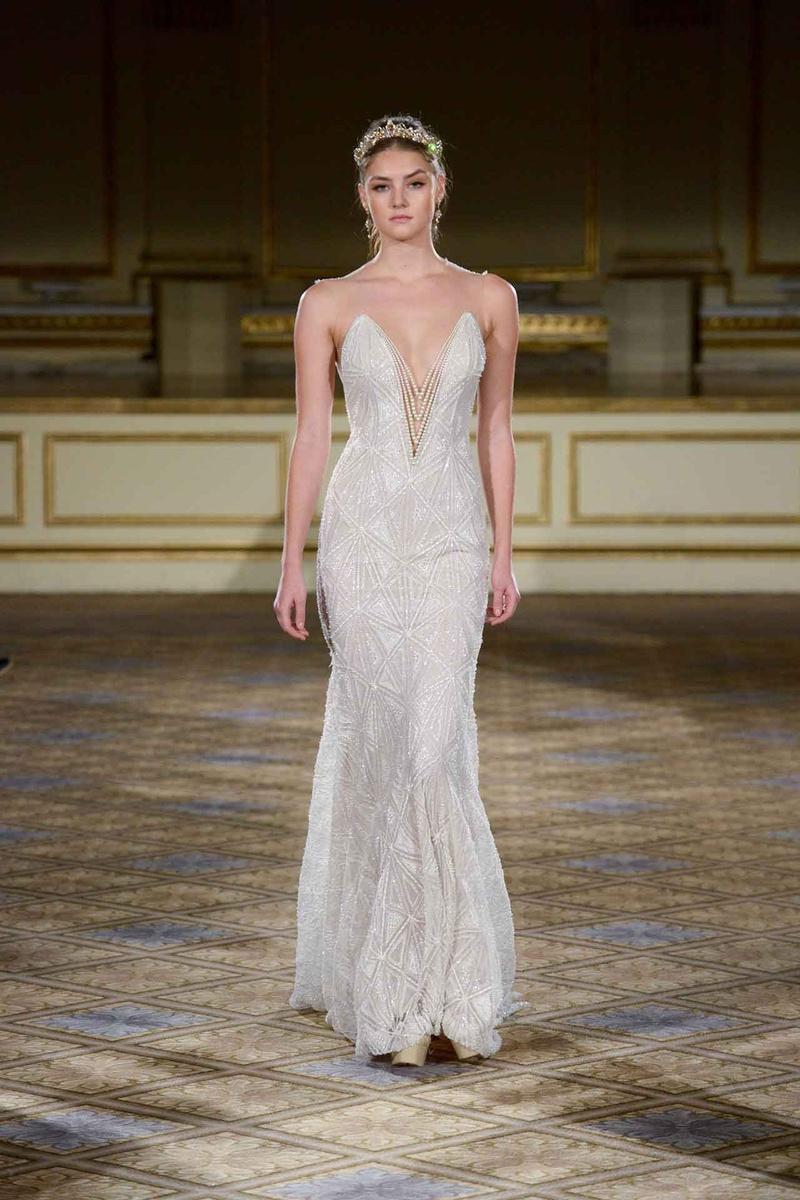 Wedding Dresses Photos - Berta FW16 Pearl Plunging Neckline - Inside ...