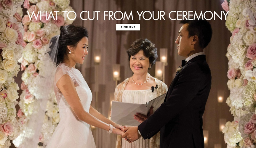 what to ask your officiant to leave out of your wedding ceremony