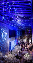 Wedding reception with winter theme at Art Institute of Chicago