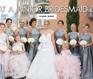 bride with bridesmaids in silver gowns, junior bridesmaid in full tulle skirt, junior bridesmaids