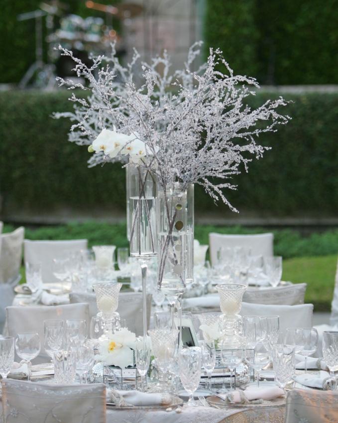 Reception Dcor Photos Winter Wedding Centerpiece Inside Weddings