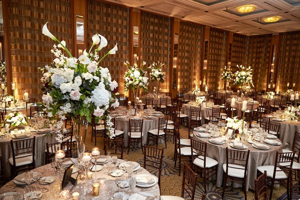 Sweet Church Ceremony Reception Featuring Soft Hues In Chicago