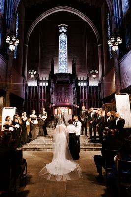 r&b singer tank beauty influencer zena foster wedding, glamorous church wedding