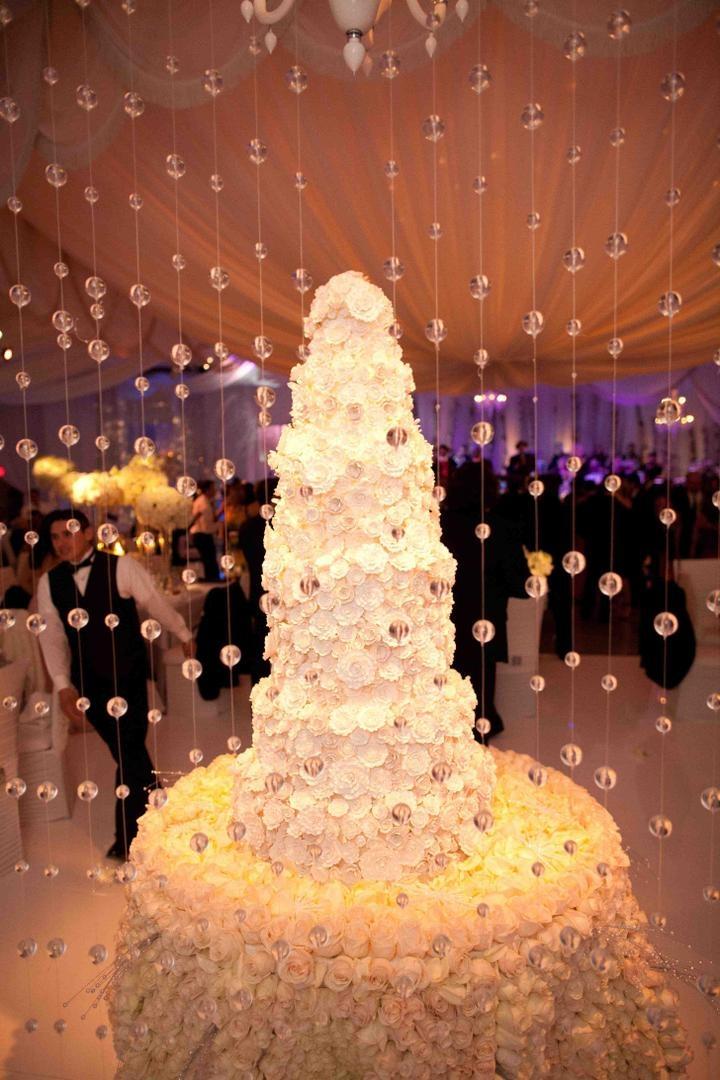 Cakes + Desserts Photos - Sugar Flower-Covered Wedding Cake - Inside ...
