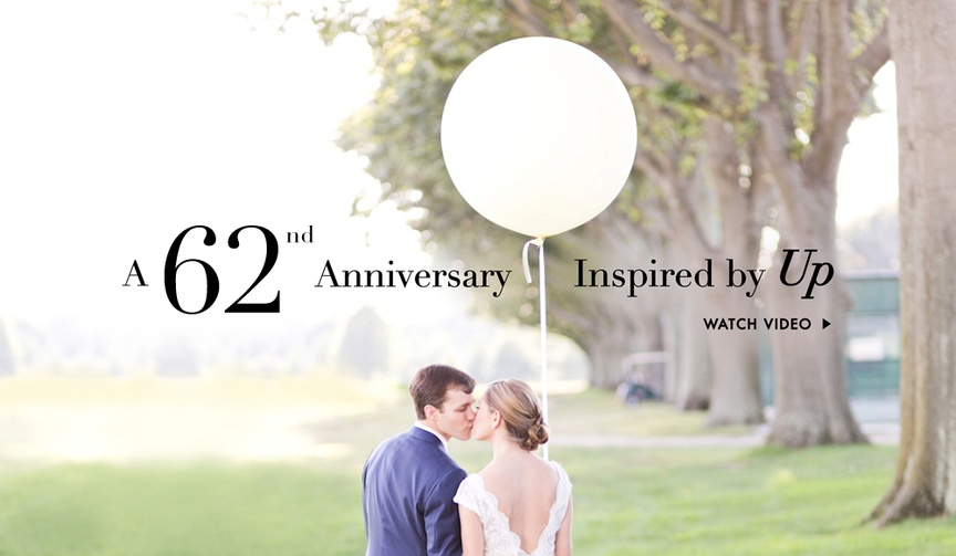 Up movie inspired 60th wedding anniversary video