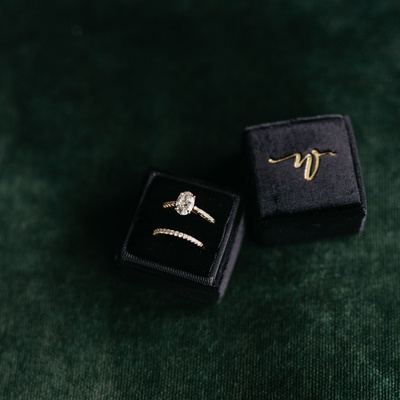 wedding ring of former miss america savvy shields oval cut diamond pave band yellow gold black box