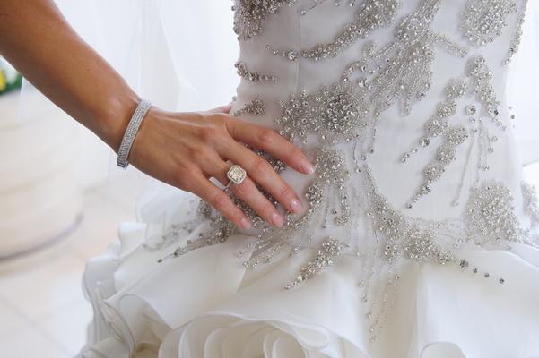 Joanna Krupa's engagement ring and wedding bracelet