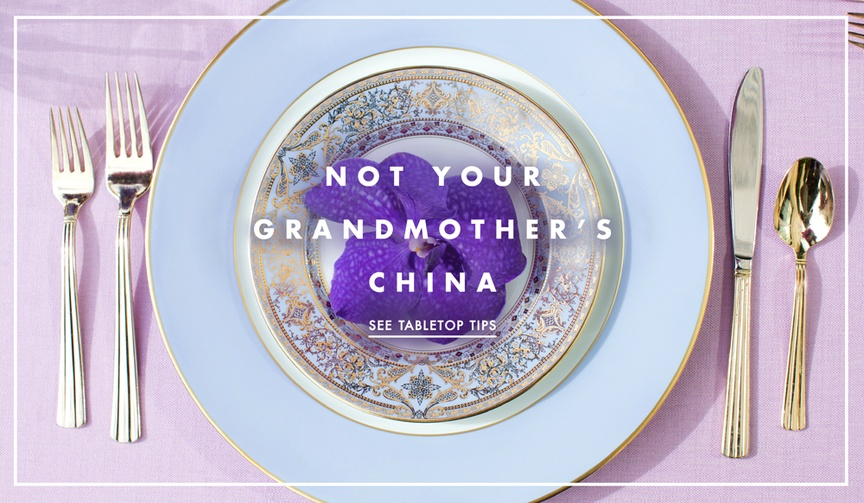 Wedding registry tips and myths of china tableware