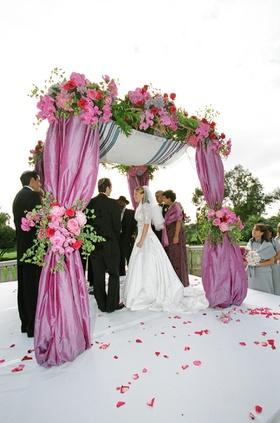 Jewish ceremony Tallis and chuppah