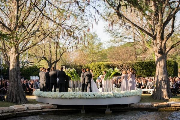 Backyard wedding in Austin, Texas on lake