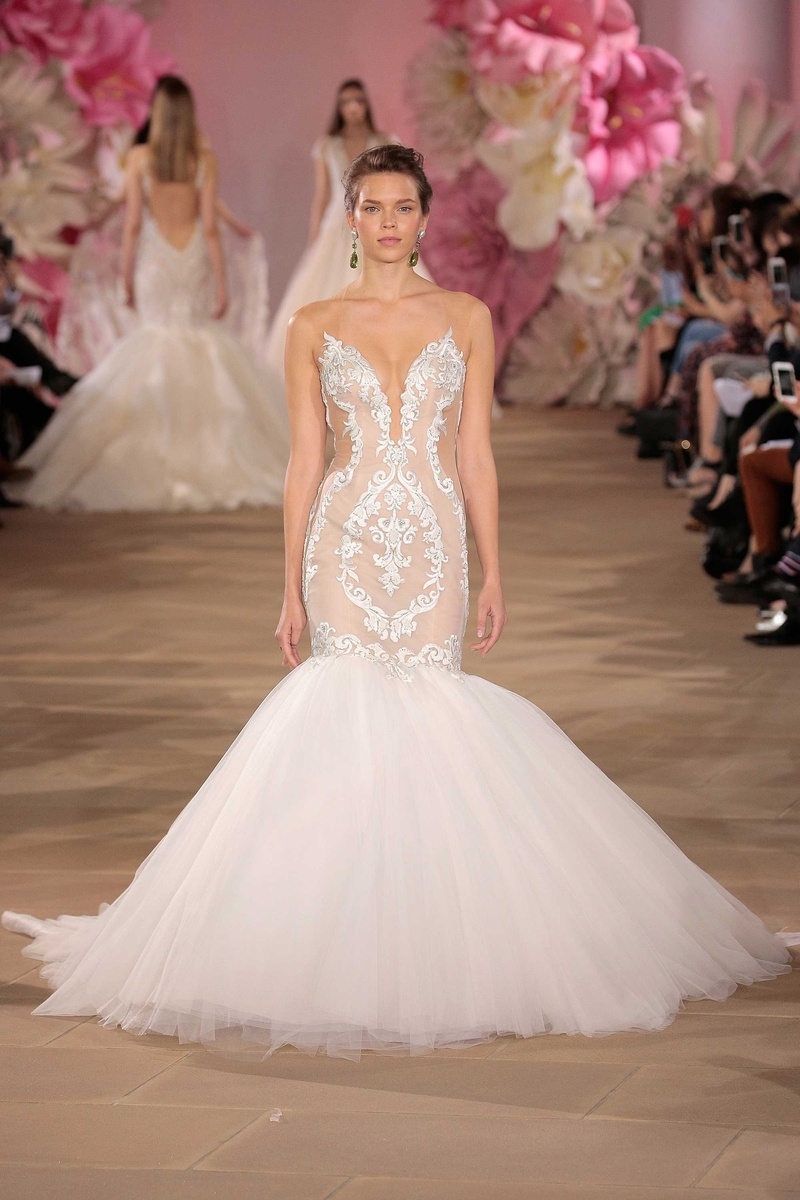 Ines Di Santo Couture Bridal Collection Spring Summer 2017 Stunning Mermaid Wedding Dress Cutouts