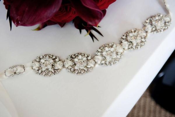 Maria Elena Headpieces diamond floral headband