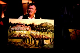 Painting of a wedding by Alan Zimmerman