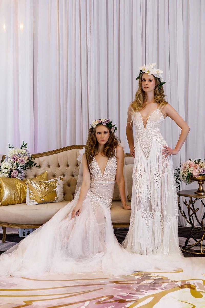Wedding Dresses Photos - Bridal Gowns & Flower Crowns - Inside Weddings