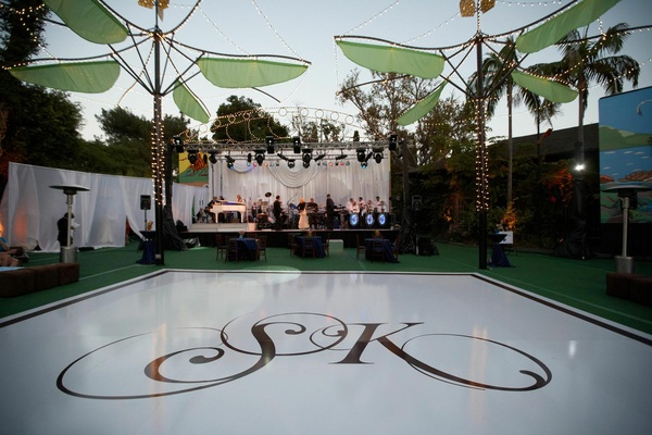 Entertainment stage at San Diego Zoo reception