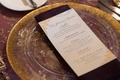 gold and white menu, sit-down menu cultural wedding reception