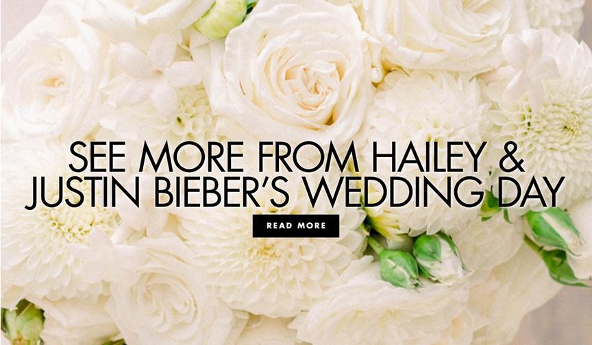 hailey baldwin bieber & justin bieber wedding day outfits