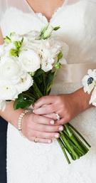 Simple White Rose Bouquet
