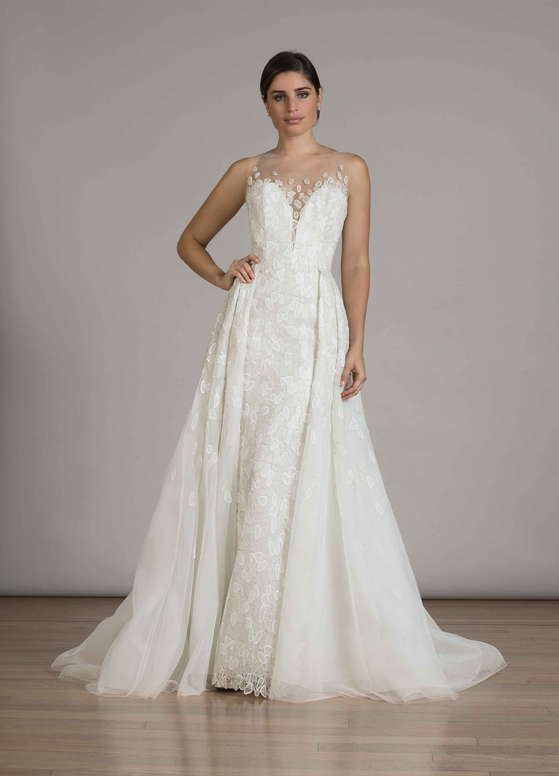 Wedding dresses photos style 6848 with overskirt by for Wedding dress with overskirt