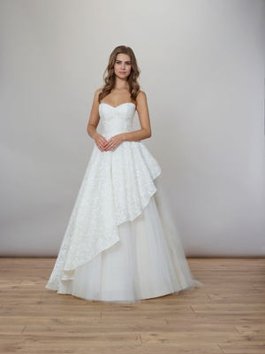 Liancarlo Spring 2020 bridal collection wedding dress silk organza sweetheart neckline ball gown