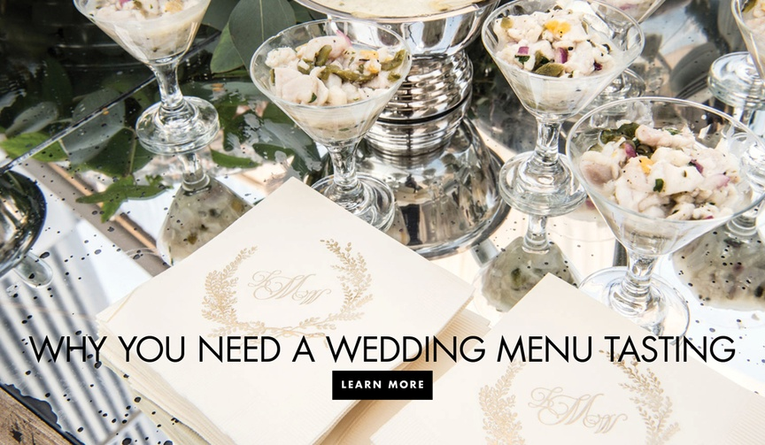 Why you need a wedding menu tasting before your reception