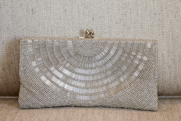 a silver bead clutch purse for a couples wedding bride accessories