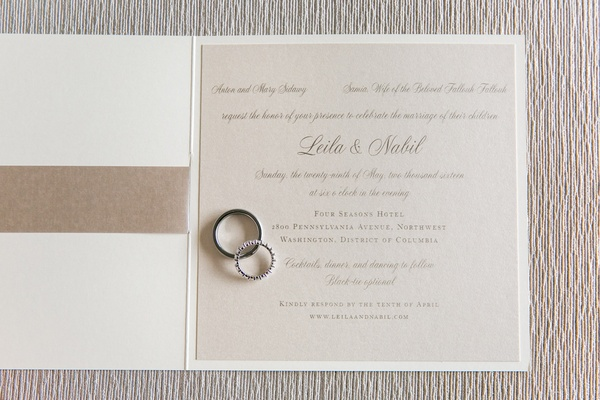 champagne ivory classic invitation calligraphy paper product washington dc wedding
