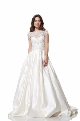 Pleated Bella wedding gown by Olia Zavozina Fall 2016