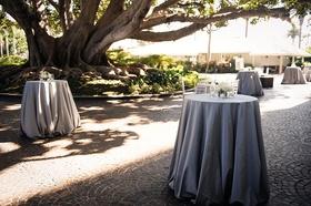 Cocktail hour at fairmont miramar hotel & bungalows in santa monica outdoor under tree cobblestone