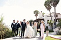 the bridal party in pastels at Bacara Resort in Santa barbara