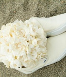 Magnolia and gardenia bouquet and Vans