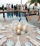 Destination wedding cocktail hour in Cabo San Lucas