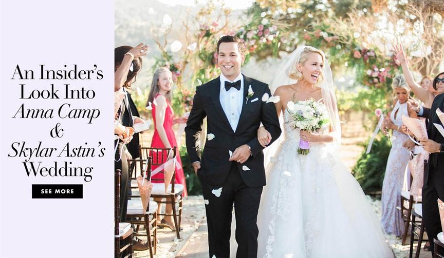Pitch Perfect stars Anna Camp Skylar Astin wedding inside look tessa lyn events planner details