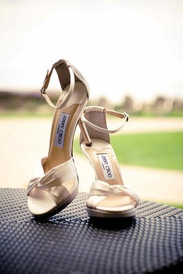 Jimmy Choo wedding sandals with ankle strap