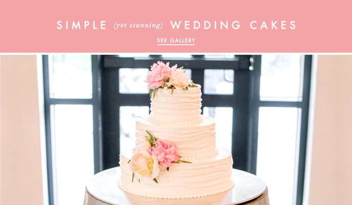 Simple And Pretty Wedding Cake Ideas