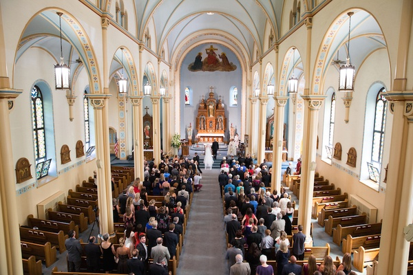 Wedding ceremony in Catholic church