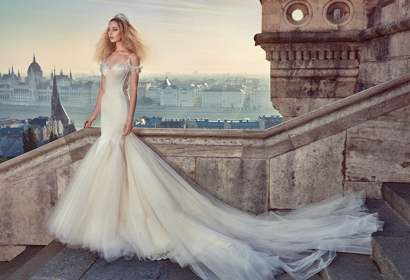 Galia Lahav Fall 2016 Wedding Dress With Tulle Skirt