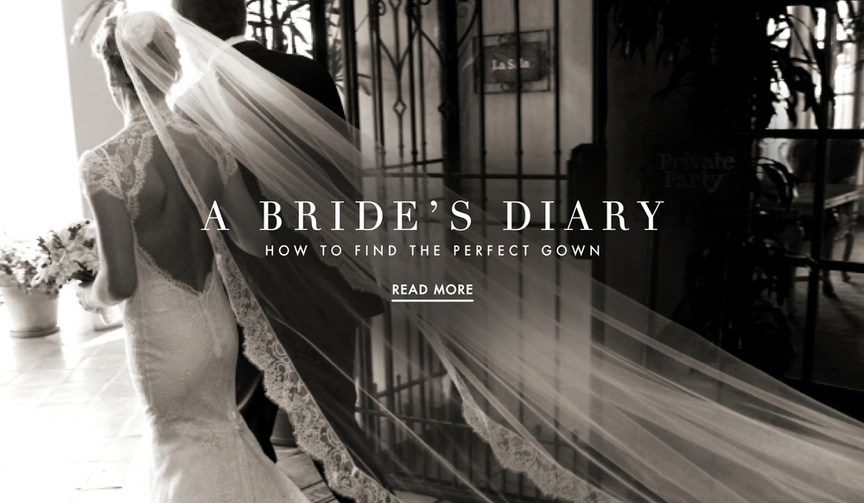 Black and white photo of bride's wedding dress and how to find dream bridal gown