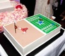 Dallas Cowboys and Chicago Bulls cake at wedding