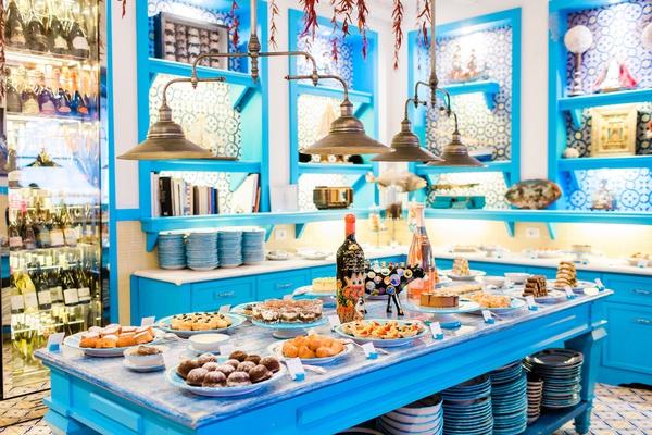 Il Riccio Beach Club & Restaurant Temptations Room dessert spread in Capri, Italy