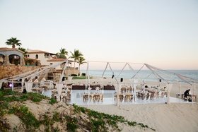 Wedding reception Barbie Blank and Sheldon Souray beach reception ocean cabo san lucas mexico